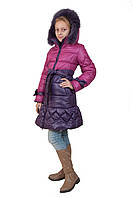 """Пуховик пальто для девочек """"Мила-2""""."""