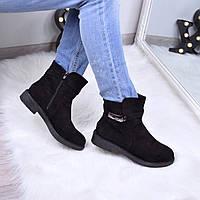 Ботинки женские  Эрме черные 3556, ботинки женские