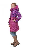 """Куртка пальто пуховик для девочек """"Мила-3""""."""