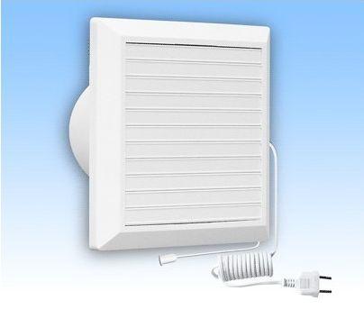 Вентилятор HARDI 125 (механические жалюзи + провод)