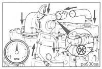 Ремонт системы питания воздухом двигателя Cummins
