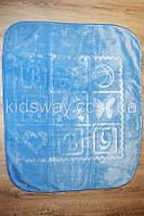Плед велюровый детский 105*120 см, голубой