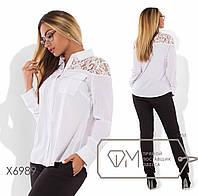 Стильная женская блуза большого размера у-t151596