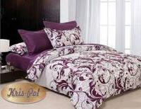 Светлое двуспальное постельное белье бязь голд
