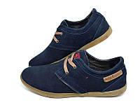 Мокасины-туфли   мужские кожаные Multi-Shoes Footwear Lac Blue , пр-во польша