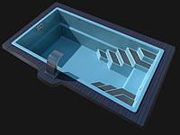 """Стекловолоконный (композитный) бассейн """"LAGOS Sol-10"""" 9,8х 3,70х 1,55м"""