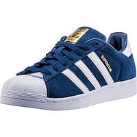 Adidas Superstar Suede Navy/White. Стильные кроссовки. Интернет магазин кроссовок. Спортивная обувь