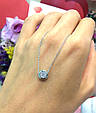 Серебряное колье серебряная цепочка с одним камушком, фото 6
