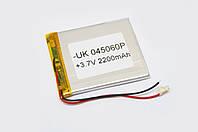 Универсальный аккумулятор для планшетов 3.7V 60х50х4 2200mAh
