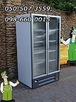 Большая 2 -х дверная холодильная витрина шириной 88см для алкогольных и безалкогольных напитков, хранения сыра