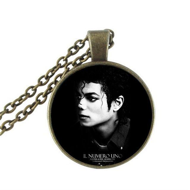 Кулон подвеска круглый Майкл Джексон