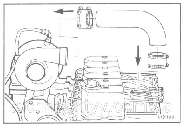 Установите впускной воздухопровод и подсоедините устройство облегчения пуска двигателя, если оно имеется.