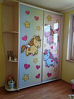 Двери купе для детской с фотопечатью, фото 1