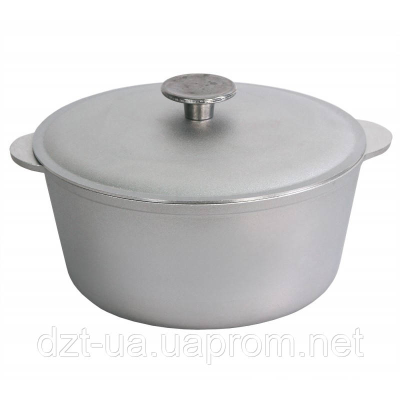 Кастрюля литая алюминиевая с крышкой (1,5 л)