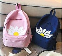 Рюкзак для девочки с ромашкой.