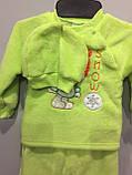 Махровый костюм с шапкой для малыша, фото 2