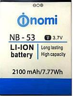 Аккумулятор для Nomi i502 NB-53 2100mAh 3.7V
