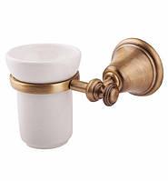 Настенный стакан для зубных щеток в бронзе Bianchi Италия