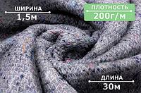 Ватин в рулонах (1500mm), для производства верхней одежды, спецодежды, матрацев и мебели 200