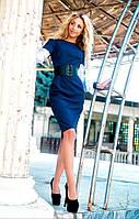 Женское платье приталенного силуэта, корсет в комплекте.