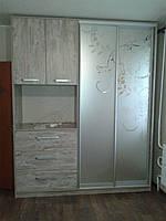 Двери купе зеркалом сатин, фото 1