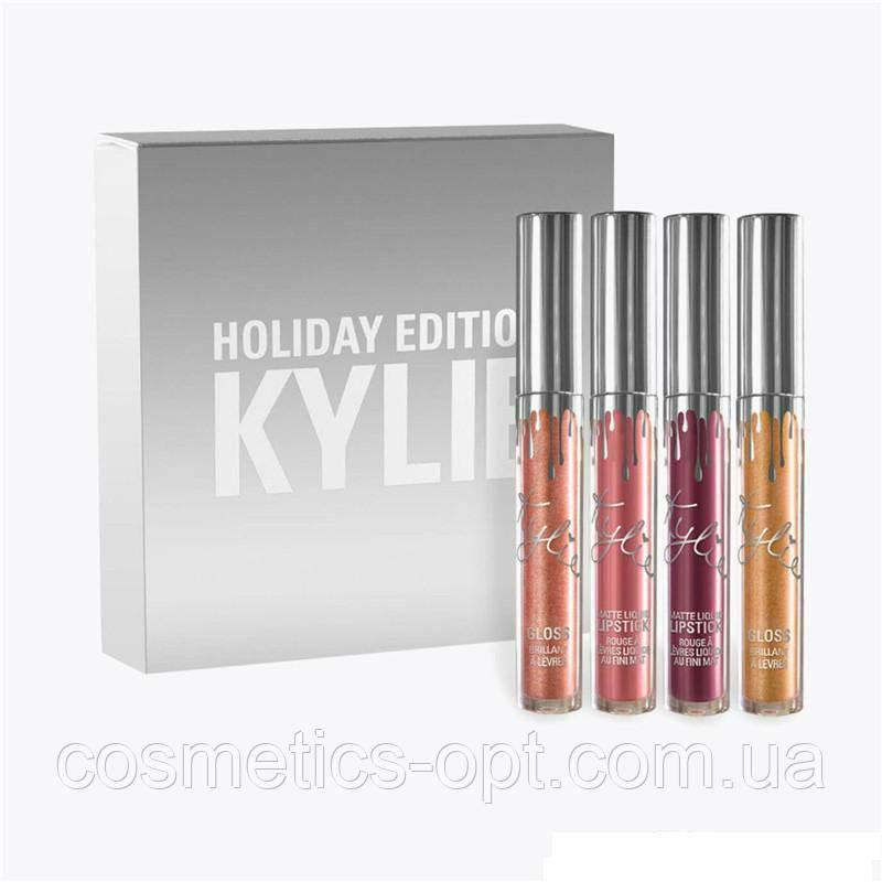 Жидкая матовая помада Kylie Holiday Edition (4 color) - набор (реплика)