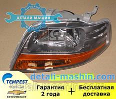 Фара левая механическая 11.05 (Светлый отражатель) АВЕО-06 (TEMPEST) CHEVROLET AVEO