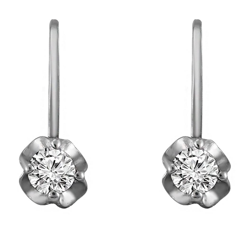 Сережки зі срібла з куб. цирконіями 177325