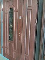 """Двері металеві """"Квартал Б-11"""" 120 ліві,ПВХ 37 +ковка"""