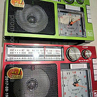 Радиоприемник +фонарь+часы PuXing PX 386 UR Радио am