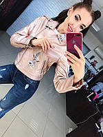Женская шикарная кожаная куртка (4 цвета)