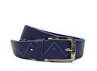 Синий мужской кожаный ремень Masco