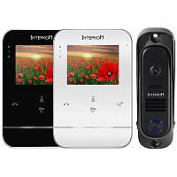 Комплект видеодомофон и вызывная панель Интерком ІМ-11.