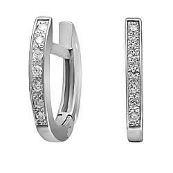 Сережки зі срібла з куб. цирконіями 177394