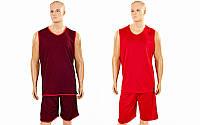 Форма баскетбольная мужская двусторонняя однослойная Ease LD-8801-2 (полиэстер, р-р L-5XL, красный)