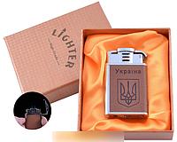 Зажигалка в подарочной упаковке Герб Украины (Острое пламя) №UA-9 SO