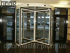 Автоматическая револьверная дверь Kaba Talos на три створки, d=2400мм, фото 3
