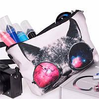 Пенал-косметичка Космический кот