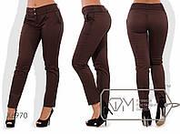 Стильные женские штаны Батал у-202599