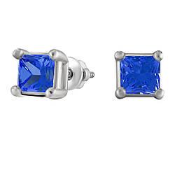 Сережки зі срібла з куб. цирконіями 182305