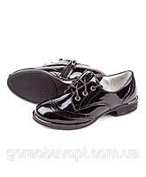 Туфли рр 28-30 Леопард черные