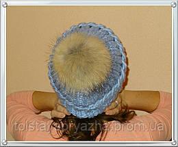 Шапка из толстой пряжи (серии 05 Италия, цвет заря), фото 3