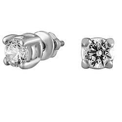 Сережки зі срібла з куб. цирконіями 177462