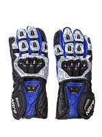 Мотоперчатки NITRO NG-102 GLV BLACK/BLUE/WHiTE