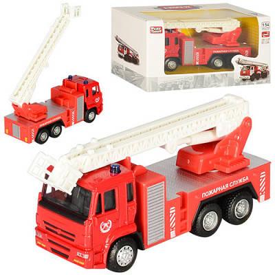 Пожарная машинка металлическая 1:54