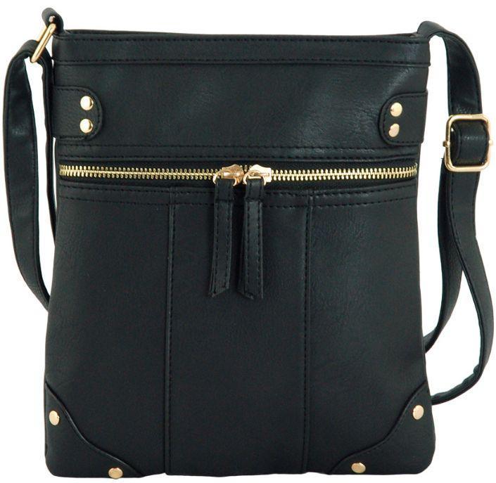 c68d5466e0d8 Женская сумка-планшет из экокожи Traum 7220-06, черная — только ...