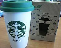 Eco cup Керамическая эко кружка с силиконовой крышкой