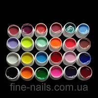 Цветной гель для ногтей. Набор 24шт.