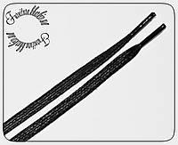 Шнурок плоский пропитка узкий (6мм) черный 1.2м