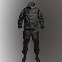 Костюм Горка 3 темная олива на черной основе, фото 1